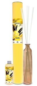 FLOR DE MAYO Mikado XL, Patyczki zapachowe + wazon + olejek Wanilia, 250 ml