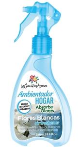 FLOR DE MAYO Spray Gun Air Freshener, Odświeżacz powietrza w sprayu Białe Kwiaty, 200 ml
