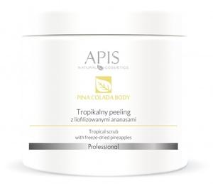 APIS Pina Colada Body, Tropikalny peeling antycellulitowy do ciała z ananasami, 650g