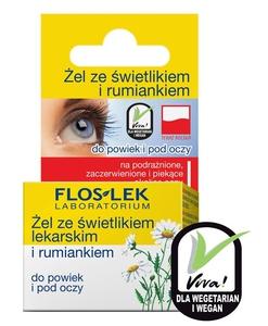 FLOSLEK Labolatorium, Żel ze świetlikiem lekarskim i rumiankiem do powiek i pod oczy, 10g