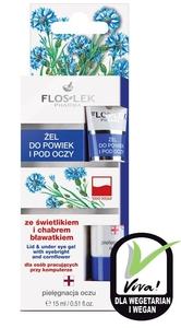 FLOSLEK Labolatorium, Żel ze świetlikiem lekarskim i chabrem (bławatkiem) do powiek i pod oczy, 15 ml