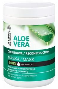 DR. SANTE Aloe Vera, Maska odbudowująca do włosów z aloesem i keratyną, każde włosy, 1000 ml