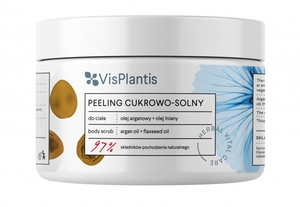 VIS PLANTIS Herbal Vital Care, Peeling cukrowo-solny Olej Arganowy i Olej Lniany, 200 ml