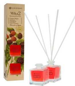 FLOR DE MAYO Mikado, Patyczki bambusowe + olejek zapachowy Czerwone Owoce Leśne, 2x50 ml