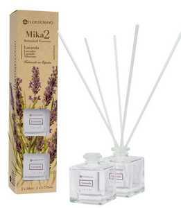 FLOR DE MAYO Mikado, Patyczki bambusowe + olejek zapachowy Lawenda, 2x50 ml