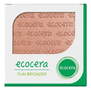 ECOCERA Wegan Bronzer, Wegański puder brązujący prasowany Thai, 10g