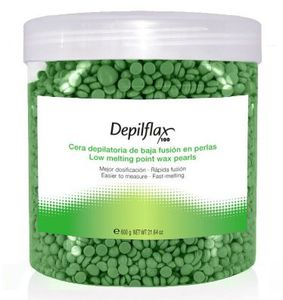 DEPIFLAX, Wosk do depilacji twardy bezpaskowy perełka Vege, 600g