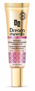 AA Dream Minerals Silky Matt, Mineralny podkład matujący, 103 Light Beige, cera normalna, tłusta, mieszana, 30 ml