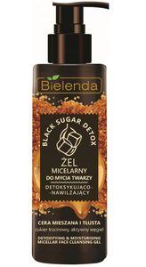 BIELENDA Black Sugar Detox, Detoksykująco – nawilżający żel micelarny do mycia twarzy, cera tłusta i mieszana, 200g