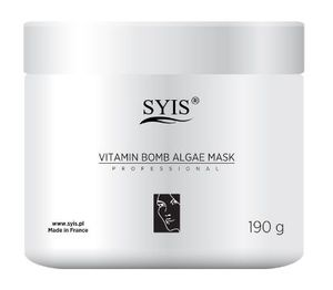 SYIS Vitamin Bomb ALgae Mask, Witaminowa maska algowa z acerolą, cera szara, zmęczona, 190g