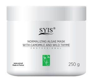 SYIS Normalizing Algae Mask, Normalizująca maska algowa z rumiankiem i macierzanką, cera mieszana, tłusta, trądzikowa, 250g