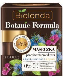 BIELENDA Botanic Formula Olej z Czarnuszki + Czystek, Maseczka przeciwzmarszczkowa, każda cera, 50 ml