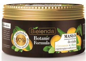 BIELENDA Botanic Formula Cytrynowiec i Mięta, Regenerujące i odżywcze masło do ciała, 250 ml