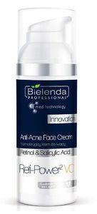 BIELENDA Professional Reti-Power2 VC, Normalizujący krem do twarzy, cera trądzikowa i tłusta, 50 ml
