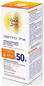 DAX Sun Dermo Line, Hipoalergiczny ochronny krem do twarzy SPF 50+, 50 ml