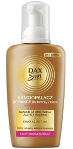 DAX Sun, Samoopalacz do twarzy i ciała w piance, każda karnacja, 150 ml