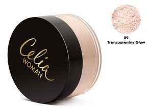 CELIA Woman, Satynowy puder sypki z naturalnym filtrem, 09 Transparent Glow, 25g