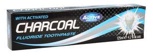 BEAUTY FORMULAS Active Oral Care, Pasta do zębów z aktywnym węglem Charcoal, 125 ml