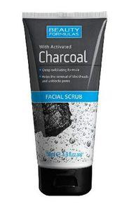 BEAUTY FORMULAS Charcoal, Peeling oczyszczający do twarzy z aktywnym węglem, 150 ml