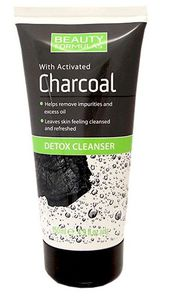 BEAUTY FORMULAS Charcoal, Żel detoksykujący do mycia twarzy z aktywnym węglem, 150 ml