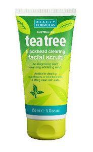 BEAUTY FORMULAS Tea Tree, Peeling oczyszczający do twarzy, każda cera, 150 ml