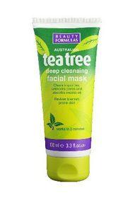 BEAUTY FORMULAS Tea Tree, Maska oczyszczająca na bazie glinki, każda cera, 100 ml