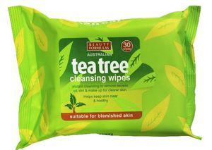 BEAUTY FORMULAS Tea Tree, Chusteczki oczyszczające do twarzy, każda cera, 30 szt