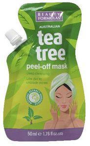 BEAUTY FORMULAS Tea Tree, Maseczka oczyszczająca do twarzy Peel Off, każda cera, 50 ml