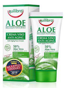 EQUILIBRA Aloe, Krem przeciwzmarszczkowy do twarzy  z 50% aloesem, cera dojrzała, 50 ml