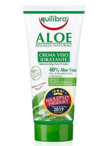 EQUILIBRA Aloe, Krem nawilżająco - kojący do twarzy z 40% aloesem, każda cera, 75 ml