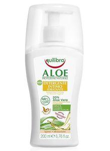 EQUILIBRA Aloe, Nawilżający żel do higieny intymnej, żel aloesowy 20%, skóra sucha, 200 ml