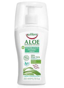 EQUILIBRA Aloe, Odświeżający żel do higieny intymnej, żel aloesowy 20%, każda skóra, 200 ml