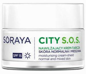 SORAYA CITY S.O.S., Nawilżający krem – tarcza na dzień SPF 15, cera normalna i mieszana, 50 ml
