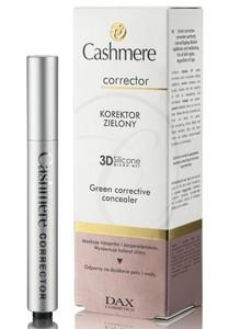 DAX 3D Cashmere Corrector, Zielony korektor na naczynka z pędzelkiem, 2,5 ml