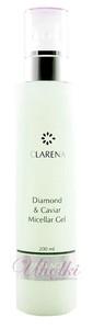 CLARENA Diamond & Caviar Micellar Gel, Diamentowy żel micelarny z kawiorem 40+, 200 ml