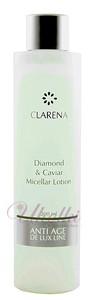 CLARENA Diamond & Caviar Micellar Lotion, Diamentowy tonik micelarny z kawiorem, 200 ml