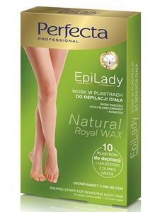 DAX Perfecta EpiLady, Cukrowy wosk do depilacji ciała w plastrach, 10 szt