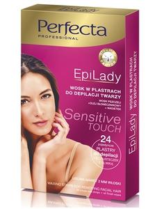 DAX Perfecta EpiLady, Cukrowy wosk do depilacji twarzy w plastrach, 24 szt