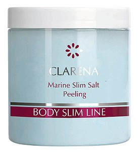CLARENA Marine Slim Salt Peeling, Wyszczuplający morski peeling solny do ciała, 250 ml