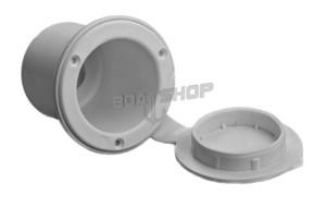 Pojemnik na prysznic okrągły fi 88 mm Biały