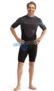Pianka Jobe Perth 3/2mm Shorty Wetsuit Men Graphite Grey 3XL