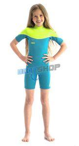 Pianka Jobe Boston 2mm Shorty Wetsuit Kids Teal 140