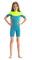 Pianka Jobe Boston 2mm Shorty Wetsuit Kids Teal 176