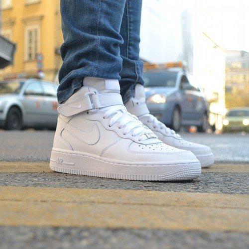 best sneakers ae7cb e8edb BUTY MĘSKIE NIKE AIR FORCE 1 Mid 07 All White 315123-111 ...