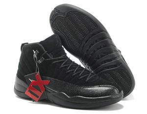 NIKE AIR JORDAN XII 12 ALL BLACK