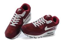 Buty męskie Nike Air Max 90 Essential 537384-605 bordowe