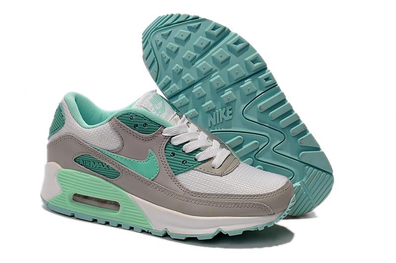 Buty damskie Nike Air Max 90 302519 103 szareseledynowe