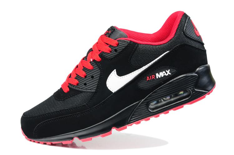 buy popular 46cd7 78f5a Buty męskie NIKE AIR MAX 90 czarne-czerwone 325213-061