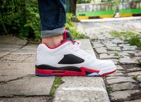 Buty męskie Nike AIR JORDAN 5 RETRO Low FIRE RED 819171-101