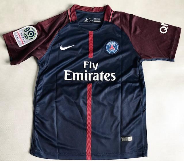 663fff002 ... Dziecięcy zestaw piłkarski PSG home 17/18 NIKE (koszulka+spodenki+getry)  ...